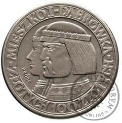 100 złotych - Mieszko i Dąbrówka - głowy w lewo Ni