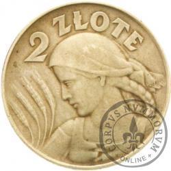 2 złote - Ag bok ząbkowany
