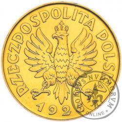 5 złotych - Konstytucja - Au, 81, zn. men., bok z nap., st. L