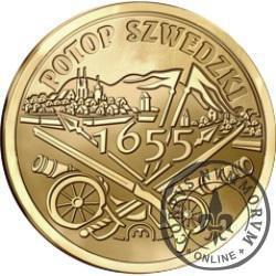 100 szelągów - 360. Rocznica Potopu Szwedzkiego (golden nordic)
