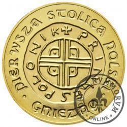 6 denarów - Gniezno (golden nordic z tampondrukiem)