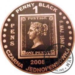 1 PENNY BLACK - PIERWSZY ZNACZEK NA ŚWIECIE 1840 / WZORZEC PRODUKCYJNY DLA MONETY (miedź patynowana)