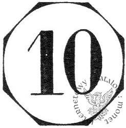 10 fenigów - ośmioboczne