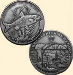 10 złotych rybek (alpaka oksydowana) - XII emisja / PŁOĆ