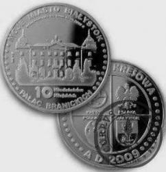 10 miedziaków miejskich - (platerowane Ag) Białystok / PAŁAC BRANICKICH