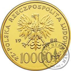10 000 złotych - Jan Paweł II - X lat pontyfikatu - st.l.
