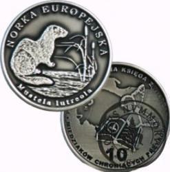 10 miedziaków chroniących przyrodę - NORKA EUROPEJSKA (alpaka oksydowana)