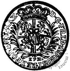 dwugrosz (1/12 talara) - EPH tarcza okrągła