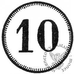 10 fenigów - okrągłe