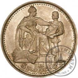 5 złotych - Konstytucja - Ag, 100, duży zn. men., bok bez nap.