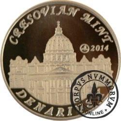 10 denarów - DENARIUS X (mosiądz + tampondruk - wersja eksportowa) / Jan XXIII