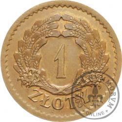 1 złoty - kłosy, tombak