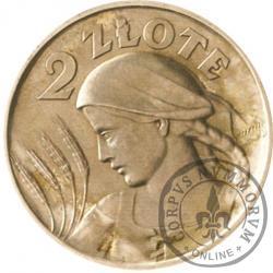 2 złote - Ag bok gładki