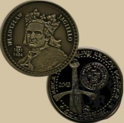 10 miedziaków królewskich - Władysław II Jagiełło wg. J. Matejki (alpaka oksydowana)