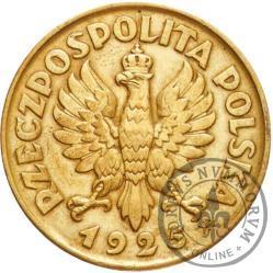 5 złotych - Konstytucja - mosiądz, 100, duży zn. men., bok z nap.