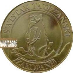 10 dutków zakopiańskich - ŚWISTAK TATRZAŃSKI (II emisja - bimetal pozłacany)