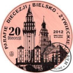 20 Diecezji - Błogosławiony Jan Paweł II (miedź + rycina - Φ 22 mm)
