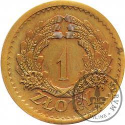 1 złoty - kłosy, brąz