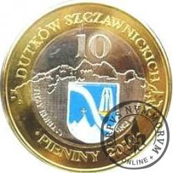 10 dutków szczawnickich - Szczawnica / Przystań u źródeł (bimetal z tampondrukiem)