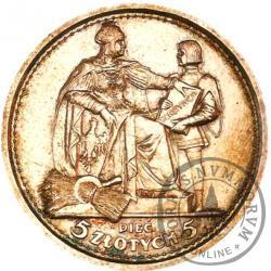 5 złotych - Konstytucja - Ag, 100, SW WG
