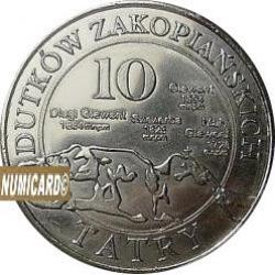 10 dutków zakopiańskich - WILK SZARY (III emisja - bimetal posrebrzany)