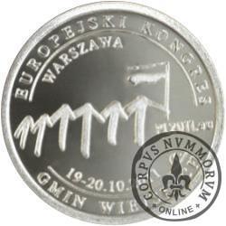 100 denarów - Związek Gmin Wiejskich Rzeczypospolitej Polskiej (Ag)