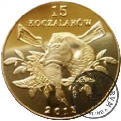 15 koczalaków (Koczała) XVI emisja / Typ 2 - PIŻMAK (mosiądz platerowany 24ct. złotem)