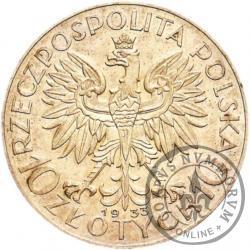 10 złotych - Polonia (głowa kobiety) Ag