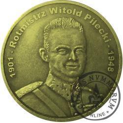 1 wilk (mosiądz) - rotmistrz Witold Pilecki