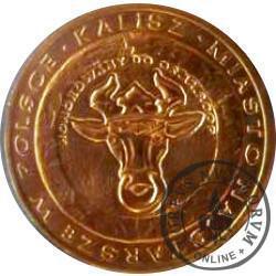 4 denary kaliskie (mosiądz z bursztynem)
