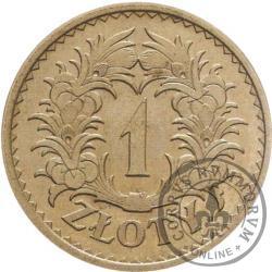 1 złoty - wieniec liściasty, nikiel