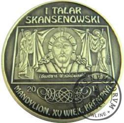1 talar skansenowski - Mandylion (mosiądz oksydowany)