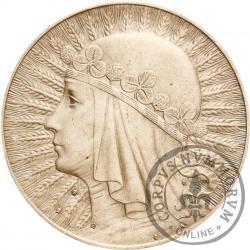 10 złotych - Polonia (głowa kobiety) 8 zn. men. na Aw.