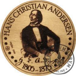 20 andersenów / Hans Christian Andersen - typ V / PRÓBA - WZORZEC PRODUKCYJNY DLA MONETY (miedź patynowana)