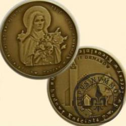 15 denarów - Parafia p.w. Św. Teresy w Kleosinie (mosiądz patynowany)
