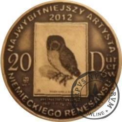 20 DÜRERÓW (DZIEŁA DÜRERA) / MONETY PRODUKCYJNE (mosiądz patynowany + miniaturowa rycina w mosiądzu patynowanym - I emisja)