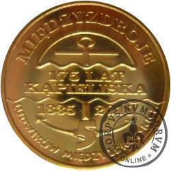 5 ludwików międzyzdrojskich  - mosiądz (M) pozłacany / Międzyzdroje - 175 LAT KĄPIELISKA