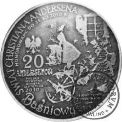 20 andersenów / Hans Christian Andersen (mosiądz srebrzony oksydowany)