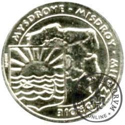 5 ludwików międzyzdrojskich  - mosiądz (M) posrebrzany / WAPNICA - JEZIORO TURKUSOWE