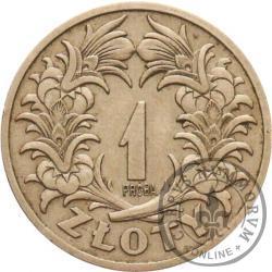 1 złoty - wieniec liściasty skrzyżowany, nikiel