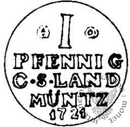 moneta próbna - pfennig - Cu