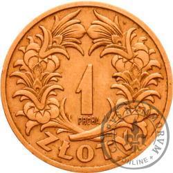 1 złoty - wieniec liściasty skrzyżowany, tombak