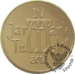 2 dukaty - logo Jarmarku Tumskiego (mosiądz)