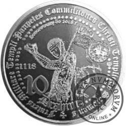 10 drahim / 900. LECIE ZAKONU TEMPLARIUSZY (aluminium)