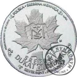 1 srebrny dukat olimpijski (Ag)