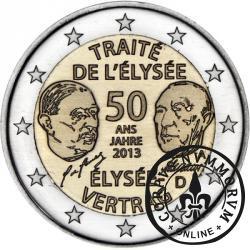 2 euro (A) - 50-ta rocznica podpisania Traktatu Elizejskiego