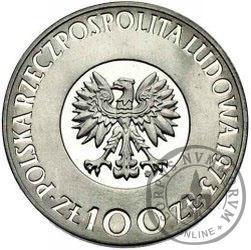 100 złotych - Mikołaj Kopernik - włosy nie dotykają obrzeża, Ag