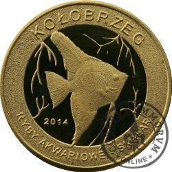 10 złotych rybek - Pomorze Zachodnie / Kołobrzeg ~ Skalar (I emisja - mosiądz)