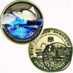 10 złotych rybek (mosiądz + tampondruk) -  IV emisja / KARP