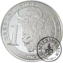 1 srebrny żubr (Ag)